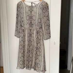 J.Crew Collection Snake Print Silk dress Size 0